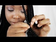Box Braid Extensions Step By Step Tutorial Single Synthetic Hair Part 2