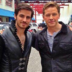 Colin O'Donoghue (Captain Hook) and Josh Dallas (Prince Charming)