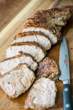Pork Loin - like the cooking method on Le Creuset A tried and true, quick and easy method for roasted pork tenderloin. So juicy, tender & delicious! | NatashasKitchen.com