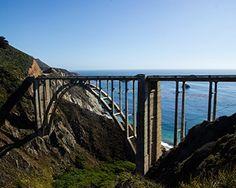 "Bixby Bridge Horizon, Highway 1 , Big Sur, California - Matted Photo Art Print, 11""x 14"" Romagosa Fine Arts http://www.amazon.com/dp/B0150Q90A4/ref=cm_sw_r_pi_dp_fyn7vb0FA1G8Y"