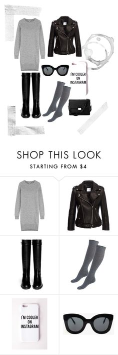 """""""grey addiction"""" by yoannablog on Polyvore featuring Kenzo, Givenchy, Missguided, CÉLINE and Aspinal of London"""