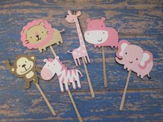 Hey, I found this really awesome Etsy listing at https://www.etsy.com/listing/214557732/set-of-12-girl-safari-animals-cupcake