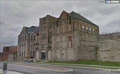 "Missouri State Penitentiary, Jefferson City, Missouri, alias ""the Walls"", alias ""bloodiest 47 acres in America"". / 38°34'24.91""N 92° 9'44.78""W (Google Earth Street View)"