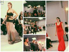 Collage défilé, le Velours, les Robes de Soirée, le Final  www.mode-estah.fr