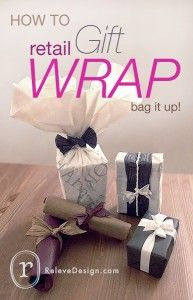 How to use plastic bags to wrap gifts!