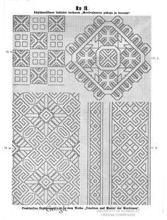 Käytännöllisiä lisälehtiä teokseen Mordvalaisten pukuja ja kuoseja - Praktische Ergänzungsblätter zu dem Werke Trachten und Muster der Mordvinen - (39 of 97) (No 19 of No 45)