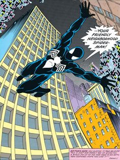 Ron Frenz and Brett Breeding provide pencils and inks for the new black costume in Amazing Spider-Man #252