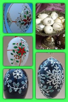 Simple decorated eggs