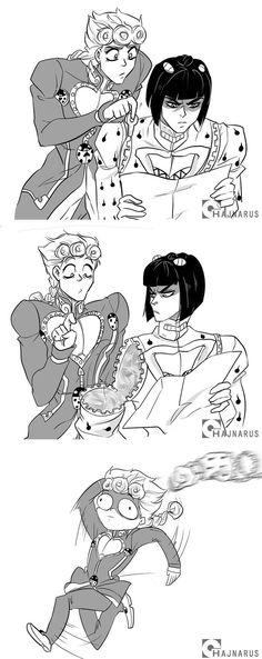 Why did he look so mad in the first panel? Jojo's Bizarre Adventure, Jojo's Adventure, Jojo Bizarro, Manga Anime, Jojo Anime, Jojo Parts, Sailor Moon Character, Jojo Memes, Fan Art