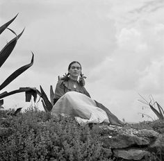 Frida Kahlo 1937 photograph by Toni Frissell, from a fashion shoot for Vogue