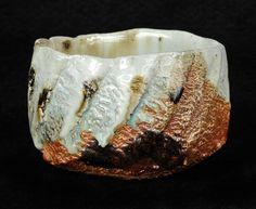 "Tadashi Nishihata  ~ Tea Bowl No. 28  w/ Hai-yu & iron glazes  wood-fired ceramic  4.75"" x 4.5"" x 3""h"