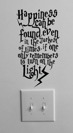 Happiness can be found even in the darkest of times ... Harry Potter Decal Wall Art by ofelia