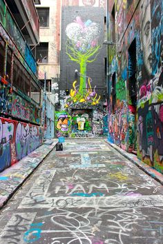Hosier Lane in Melbourne