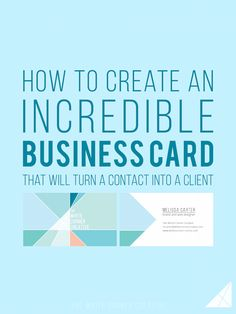 A business card can be a great tool to make contacts, but an amazing business card can turn a contact into a client.