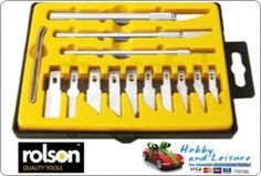 Rolson 62917, Craft Knife Set 17pcs. in see through Case,
