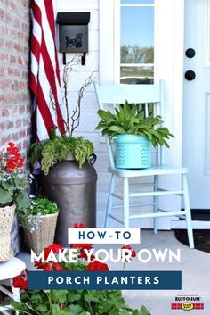 Make your porch or entryway a reason to stay awhile on a budget and just in time for summer. Repurpose pots that you already own then paint and protect them from the elements with Stops Rust Spray Paint. Learn step-by-step how @fancyfarmgirls1 did it and DIY for a chance to win $200 in prizes. Visit stopsrust.com/rules for details. Colors featured here are  Stops Rust Matte Hammered Brown and Stops Rust Gloss Light Turquoise spray paint.