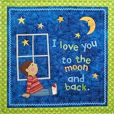 Love You to the Moon pattern by Country Appliqués
