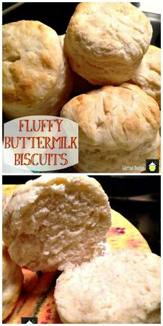 Fluffy Buttermilk Biscuits. Home made, simple, regular ingredients and very easy to make! Serve with a lovely stew or alongside a breakfast. Delicious! #easyrecipe #biscuits #sides #breakfast