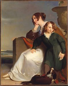Thomas Sully (American, 1783–1872). Mother and Son, 1840. The Metropolitan Museum of Art, New York. Bequest of Francis T. Sully Darley, 1914 (4.126.5) #dogs