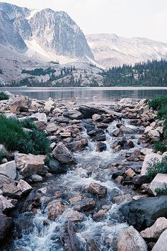 Lake Marie in Medicine Bow National Forest, Wyoming.