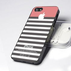 Pink Grey Stripes Iphone 5 Case