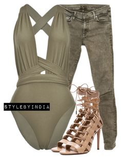 """""""Untitled #1555"""" by iysmnx ❤ liked on Polyvore featuring 7 For All Mankind and Aquazzura"""