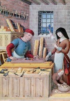 The Four Conditions of Society: Work (vellum), Jean Bourdichon  (1457-1521) Bibliotheque de l'Ecole des Beaux-Arts, Paris, France / Giraudon / The Bridgeman Art Library