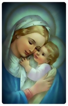 Mary Jesus Mother, Blessed Mother Mary, Mary And Jesus, Blessed Virgin Mary, Catholic Pictures, Pictures Of Jesus Christ, Virgin Mary Painting, Images Of Mary, Spiritual Images