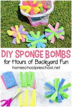 Have you ever made sponge bombs with your kids? If not, check out this super simple tutorial and get ready for an amazing afternoon of summer fun!