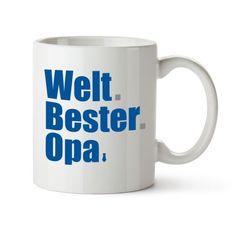 Die Tasse - Welt Bester Opa ist eine schöne Geschenkidee, um Deinem Opi zu zeigen, dass er der Beste ist.