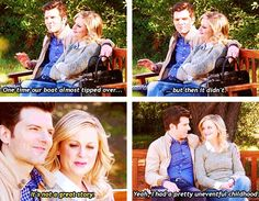 """""""Ben and Leslie"""" I just Repinned this because it sounds like my life. XD"""
