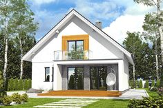 Projekt Dom Dla Ciebie 6 bez garażu [B] 108,4 m2 - koszt budowy 167 tys. zł - EXTRADOM Attic Rooms, Design Case, Home Fashion, Gazebo, House Plans, Shed, Exterior, Outdoor Structures, Cabin
