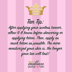 We use only the most high-end, naturally looking sunless tanning lotion! It is the rub-on sunless tanner that for years we have dreamt that drug store tanners were! It's Million Dollar Tan's famous bronze tan color, in lotion form. Best Tanning Lotion, Tanning Tips, Suntan Lotion, Spray Tan Booth, Million Dollar Tan, Tanning Booth, Bronze Tan, Airbrush Tanning, Your Skin