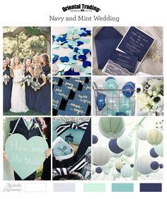 navy and mint wedding inspiration