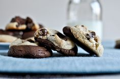 Brown butter double fudge chocolate chip cookies