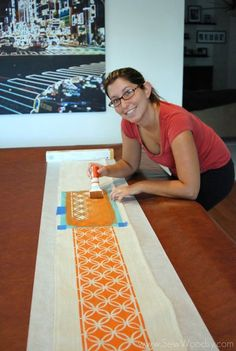 Fun DIY no sew table runner made from a drop cloth!