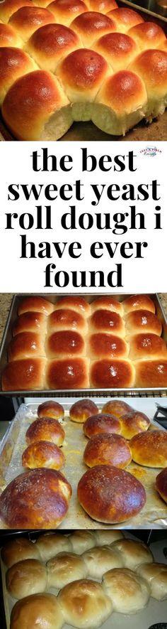 Bread Recipes, Cooking Recipes, Dinner Rolls Recipe, Roll Recipe, Sweet Roll Dough Recipe, Sweet Dough, Homemade Rolls, Homemade Breads, Homemade Recipe