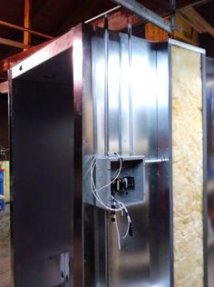 Learn How to Build a Powder Coating Oven with Step by Step Instructions - Part 2 Powder Coating Diy, Diy Paint Booth, Electrical Wiring Colours, Power Coating, Window Seal, The Door Is Open, Diy Shops, Drilling Holes, Heating Element