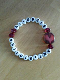 Perlenarmbänder - ALLERGIE ANTIBIOTIKA Notfall Notfallarmband - ein Designerstück von Nadine28T bei DaWanda