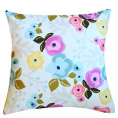 Bloom Ecru Pillow by Clairebella