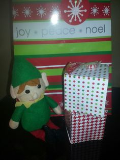 Dollar tree diy elf with gift bags and favor boxes