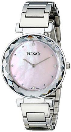 Pulsar Women's PM2079 Night Out Analog Display Japanese Quartz Silver Watch -