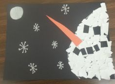 Torn Paper Snowman Profile | TeacherTime123