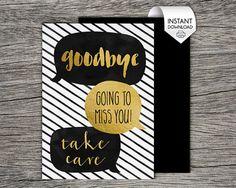 farewell cards printable
