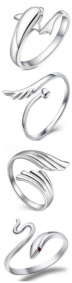 Love this amazing design and lines of the rings. Dolphin, snake, and angel's wings, which is your favorite?