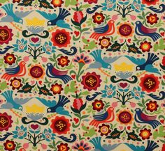 Restocked Gorgeous Mexican themed design with brightly coloured birds andflowers on a light tea background. A lovely print for both crafts, homeaccessories and dressmaking. Uses: crafts, quilting, dressmaking, bags, home decor etcFabric type: medium / quilt weight cottonFibre content: 100% cottonFabric width: approx 112cm / 44 inches If you order a single 1/4 metre it will be cut as a fat quarter. Multiple units will be cut in one continuous piece see guidePrice per metre £12.00P...