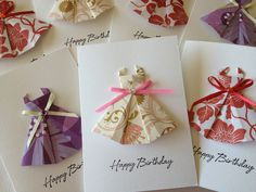 Origami Dress Cards