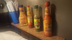 I'm happy with my collection of inexpensive sauces. #spicy #food #hot #foodporn #delicious #yummy #foodie #dinner #dirty