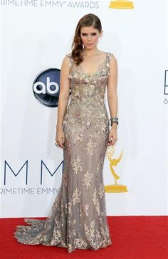 Kate Mara arrives at the 64th Primetime Emmy Awards at the Nokia Theatre in Los Angeles on Sept. 23, 2012.