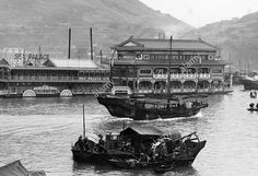 Floating restaurant,the Sea Palace Ltd,Aberdeen,Hong Kong in the 1960s.